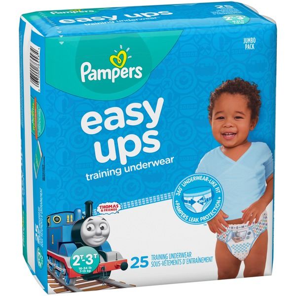 Youth Training Pants Pampers® Easy Ups™ Pull On 2T - 3T Disposable Heavy Absorbency
