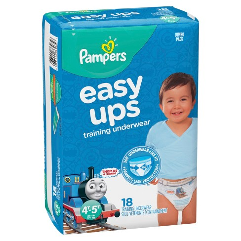 Youth Training Pants Pampers® Easy Ups™ Pull On 4T - 5T Disposable Heavy Absorbency