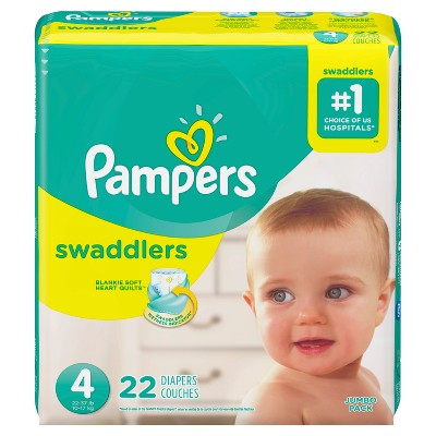 Baby Diaper Pampers® Swaddlers™ Tab Closure Size 4 Disposable Heavy Absorbency