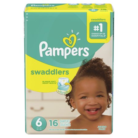 Baby Diaper Pampers® Swaddlers™ Tab Closure Size 6 Disposable Heavy Absorbency