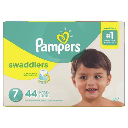 Baby Diaper Pampers® Swaddlers™ Tab Closure Size 7 Disposable Heavy Absorbency